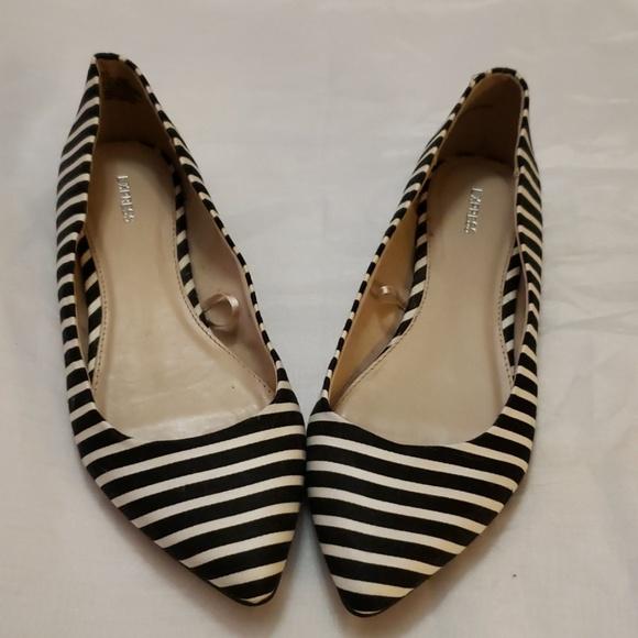 Black And White Stripe Flats | Poshmark